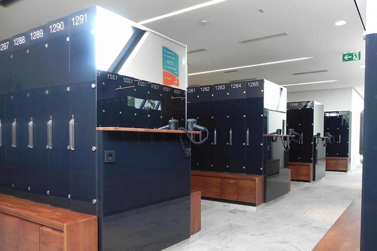 Garderobenschrank System aus Glas